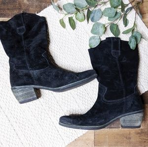 Matisse Suede Pull On Cowboy Boots